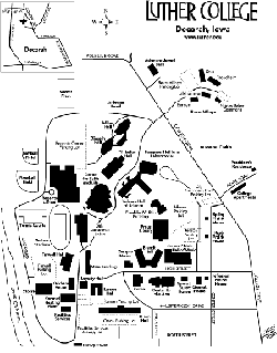 Luther College Campus Map