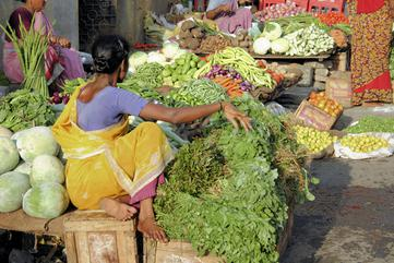 Indian Woman at Food Market