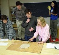 Picture of students demonstrating Reidel shear