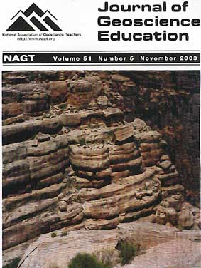 Cover of Nov 2003 JGE issue